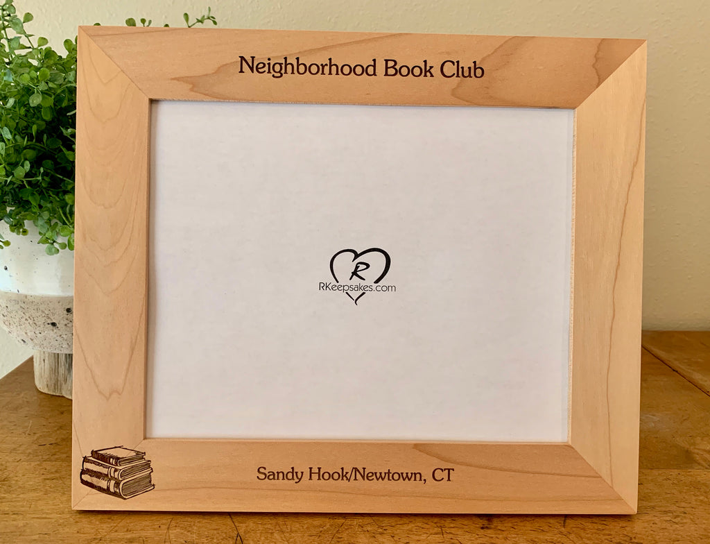 Book Picture Frame, Custom Text