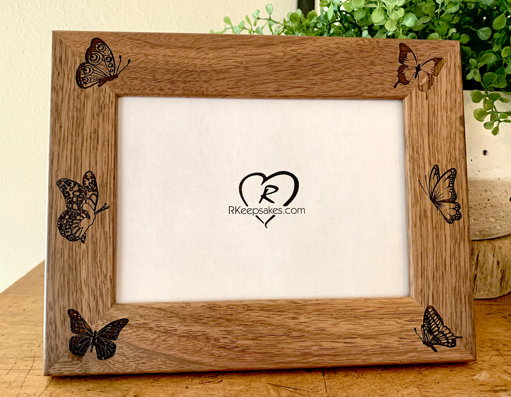 Butterfly Picture Frame, Custom Text