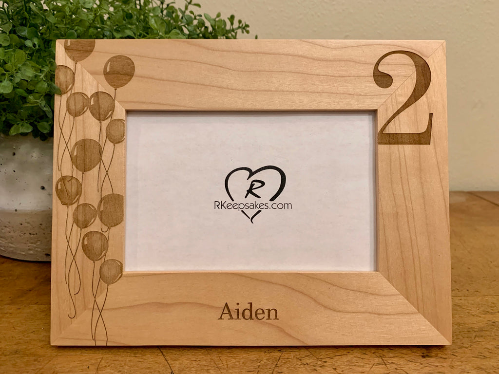 2nd Birthday Picture Frame, Personalized