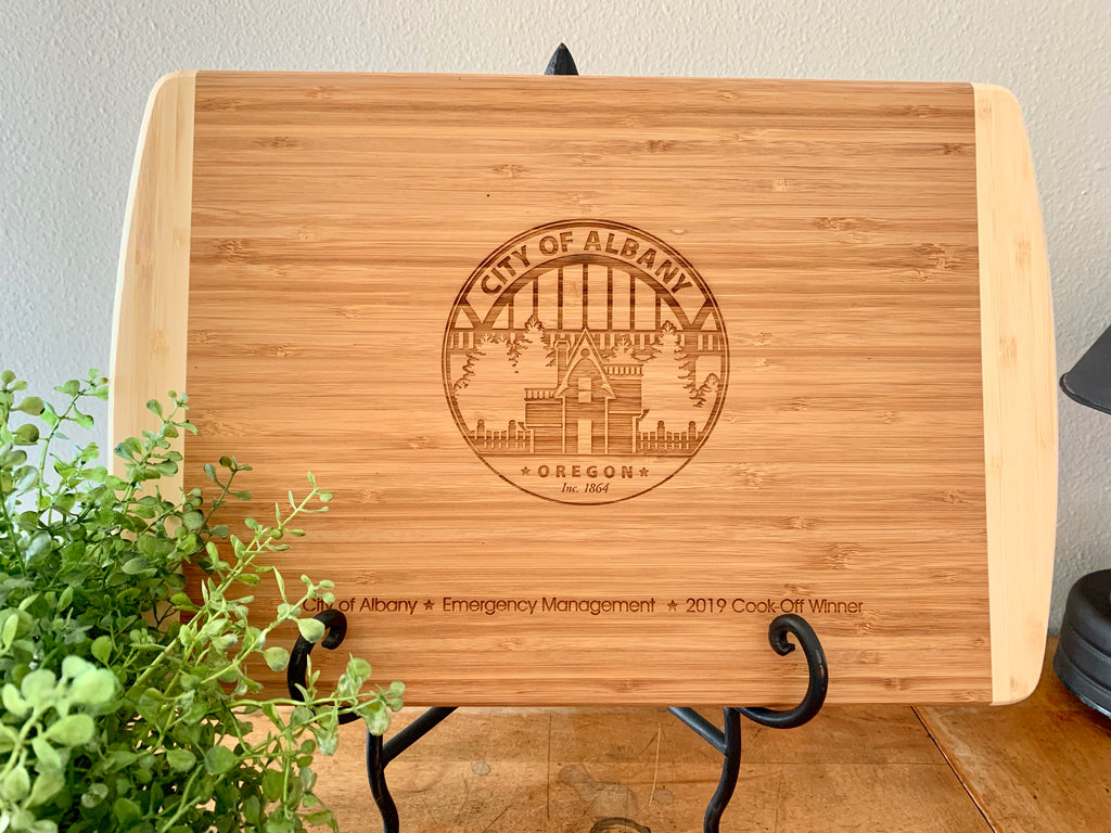 Corporate Cutting Board, Custom Engraved, Your Logo