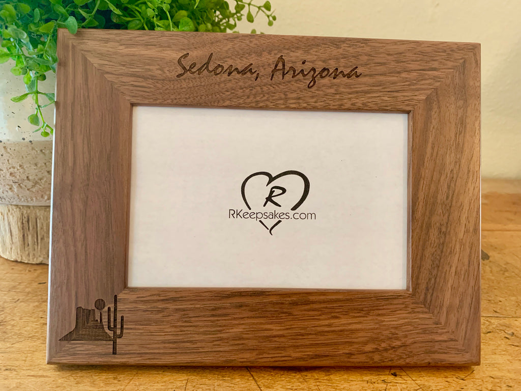 Desert Picture Frame with Custom Text