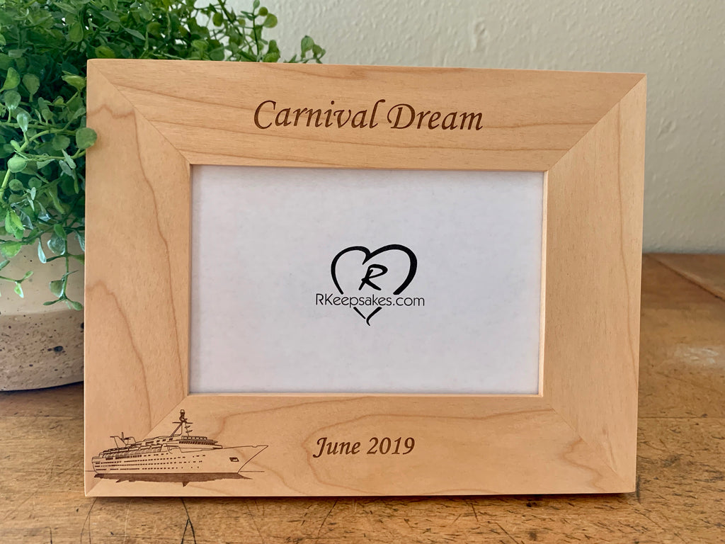 Cruise Picture Frame, Custom Text
