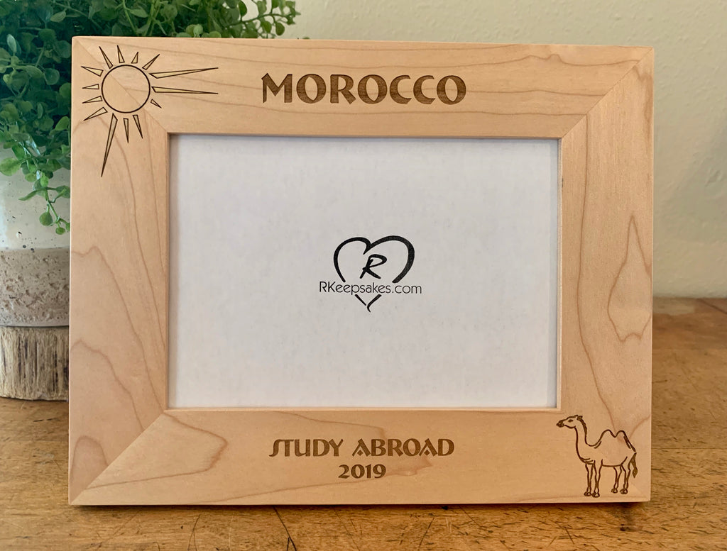 Morocco Picture Frame, Custom Text