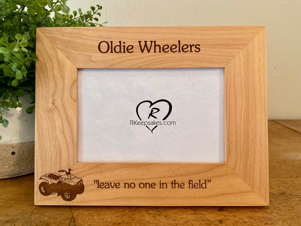 ATV Picture Frame, Custom Text