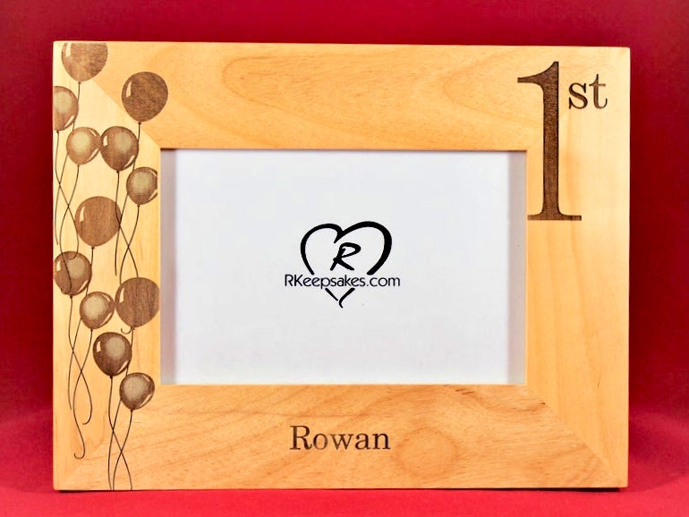 1st Birthday Picture Frame, Personalized