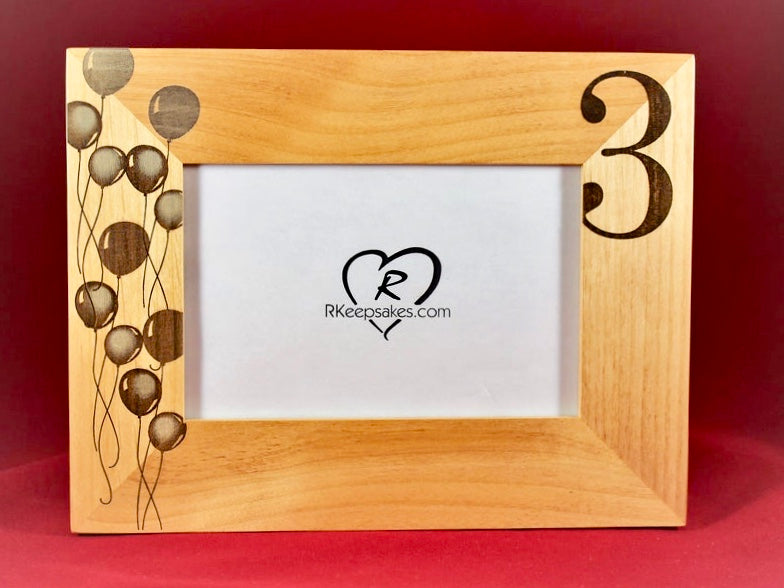 3rd Birthday Picture Frame, Personalized