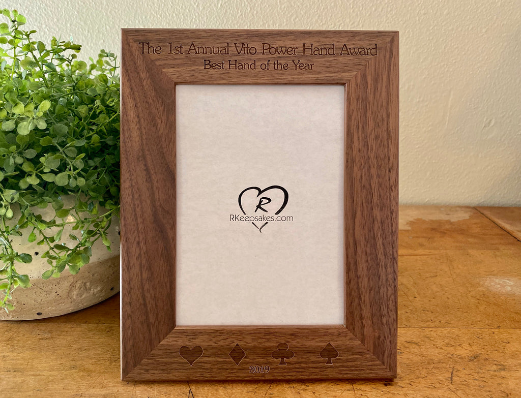 Playing Cards Picture Frame, Custom Text