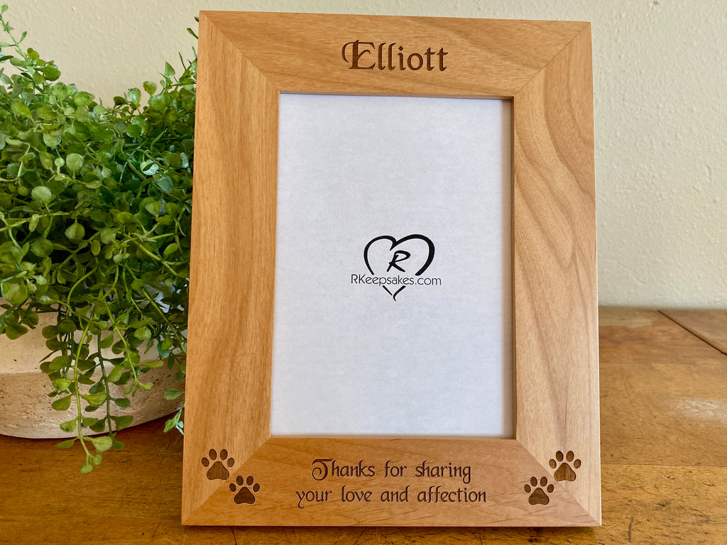 Small Pawprints Picture Frame, Custom Text