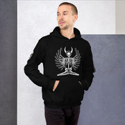los-angeles-death-and-seduction-goth-streetwear-punk-rock-apparel-illumin-skulls-skeleton-Apparel & Accessories > Clothing (1604) - Illumin Hoodie Black Hooded Sweatshirt