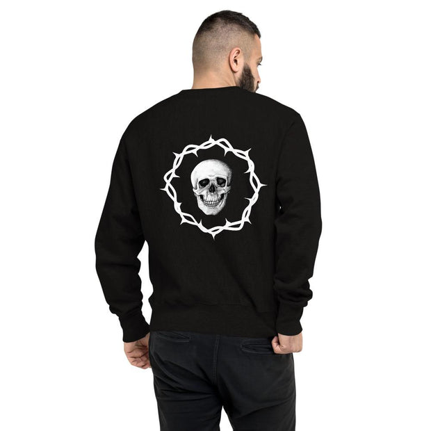 los-angeles-death-and-seduction-goth-streetwear-punk-rock-apparel-skulls-skeleton-Apparel & Accessories > Clothing (1604) - Death And Seduction Champion Sweatshirt