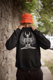 los-angeles-death-and-seduction-goth-streetwear-punk-rock-apparel-skulls-skeleton-illiumin-Apparel & Accessories > Clothing (1604) - Illumin Meditating Death | Champion Sweatshirt