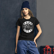 los-angeles-death-and-seduction-goth-streetwear-punk-rock-skulls-skeleton-cafe-racer-vintage-harley-davidson-indian-motocycle-dead-city-chains-Apparel & Accessories > Clothing (1604) - Dead City Women's Short Sleeve T-shirt