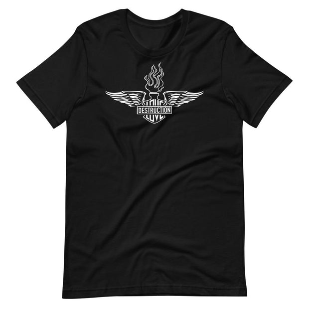 los-angeles-death-and-seduction-goth-streetwear-punk-rock-skulls-skeleton-cafe-racer-vintage-harley-davidson-indian-motocycle-sacred-heart-Apparel & Accessories > Clothing (1604) - Love And Destruction Sacred Heart | Short-Sleeve Unisex T-Shirt