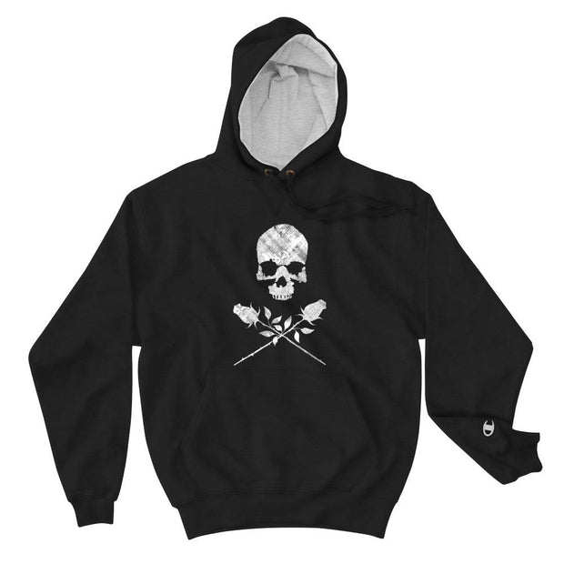 los-angeles-death-and-seduction-goth-streetwear-punk-rock-skulls-skeleton-lunatic-pink-floyd-roses-Apparel & Accessories > Clothing (1604) - Dead City Crossing Champion Hoodie