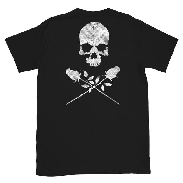 los-angeles-death-and-seduction-goth-streetwear-punk-rock-skulls-skeleton-lunatic-pink-floyd-roses-Apparel & Accessories > Clothing (1604) - Lunatic Short-Sleeve Unisex T-Shirt