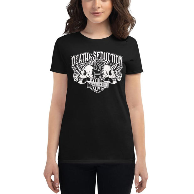 Apparel & Accessories > Clothing (1604) - Love And Destruction Women's Short Sleeve T-shirt