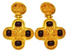 Vintage Chanel earrings | cross
