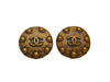 Vintage Chanel earrings CC logo copper color
