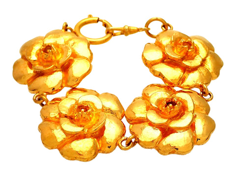 Authentic Vintage Chanel bracelet Gold Camellia