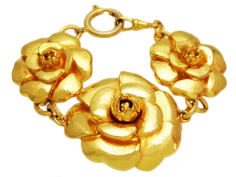 Vintage Chanel bangle / bracelet large camellia