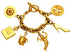 Vintage Chanel bracelet angel turtle perfume bottle charms