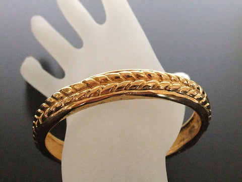 Authentic Vintage Chanel cuff bracelet bangle gold