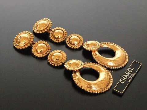 Authentic vintage Chanel earrings swing super long