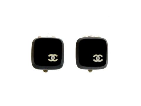 Vintage Chanel earrings CC logo keyboard