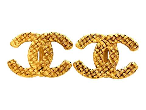 Vintage Chanel earrings big CC logo double C