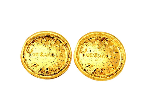Vintage Chanel earrings Rue Cambon medal