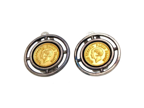 Vintage Chanel earrings COCO medal