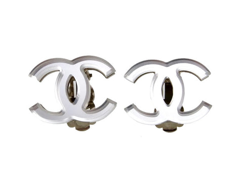 Vintage Chanel earrings CC logo mirror