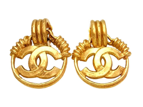 Vintage Chanel earrings CC logo dangle