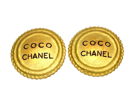 Vintage Chanel earrings COCO round