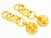 Vintage Chanel earrings CC logo rings dangle