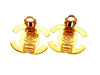 Vintage Chanel earrings CC logo turnlock