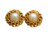 Vintage Chanel earrings pearl round