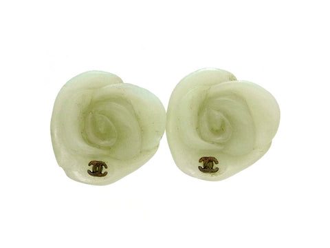 Vintage Chanel earrings CC logo camellia