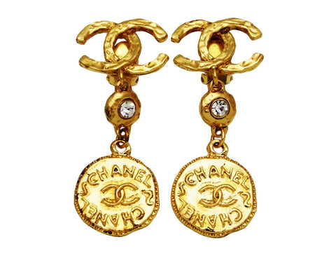 Vintage Chanel earrings CC logo as seen on Lady Gaga
