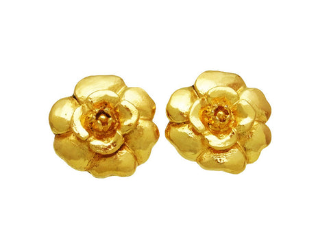 Vintage Chanel earrings camellia flower