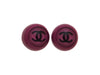 Vintage Chanel earrings CC logo purple round