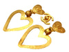Vintage Chanel earrings CC logo heart dangle