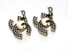 Vintage Chanel earrings punched CC logo silver color