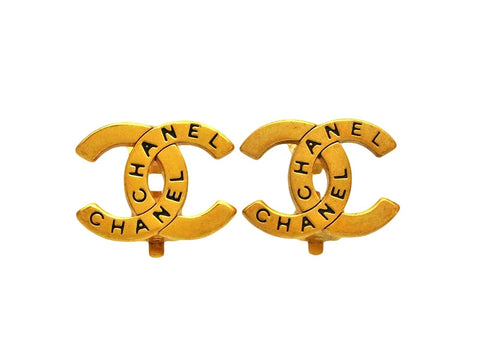 Vintage Chanel earrings CC logo double C
