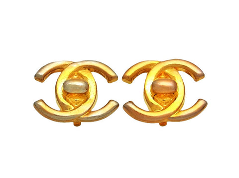 Vintage Chanel earrings CC turnlock logo double C