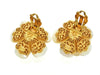 Vintage Chanel earrings white shell flower