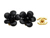 Vintage Chanel earrings black flower