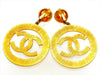 Vintage Chanel earrings CC logo huge hoop dangle