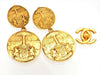 Vintage Chanel earrings CC logo medallion dangle