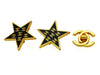 Vintage Chanel earrings CC logo black star large